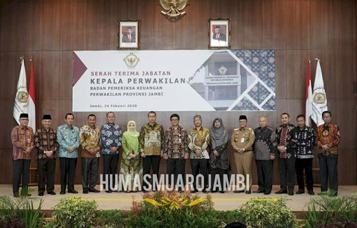 Wabup BBS Hadiri Sertijab Kepala BPK Perwakilan Provinsi Jambi