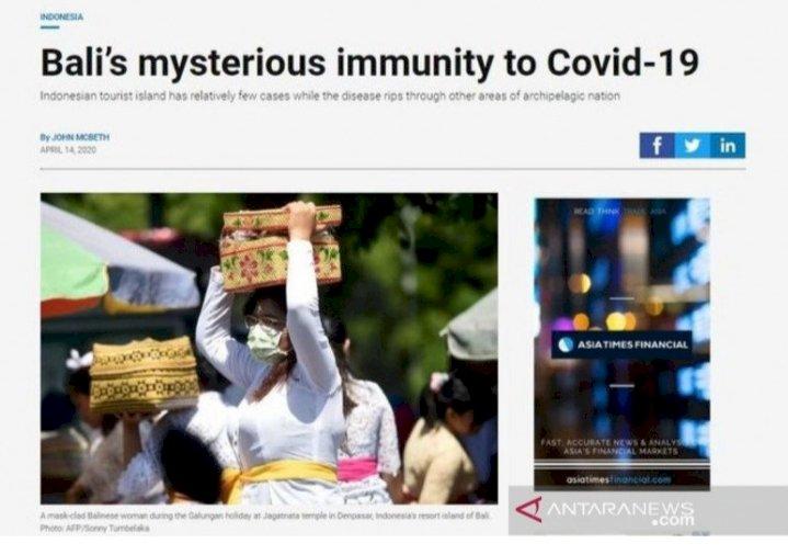 Media Asing & 'Imunitas Misterius' Bali Terhadap COVID-19