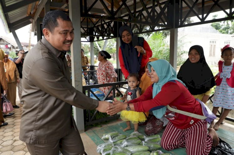 Bupati Bungo Mashuri Tinjau Pasar Tani di Sungai Udo