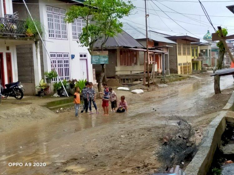 Di Saat Hujan Lebat Desa Tanjung Pauh Mudik Kerinci Terus Terendam Banjir, Ini Penjelasan Dinas PU PR