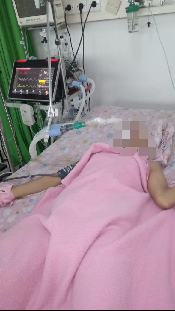 Lima Hari Koma Lantaran Pendarahan Otak, Anak Yatim Asal Sekernan Muarojambi Ini Butuh Pertolongan