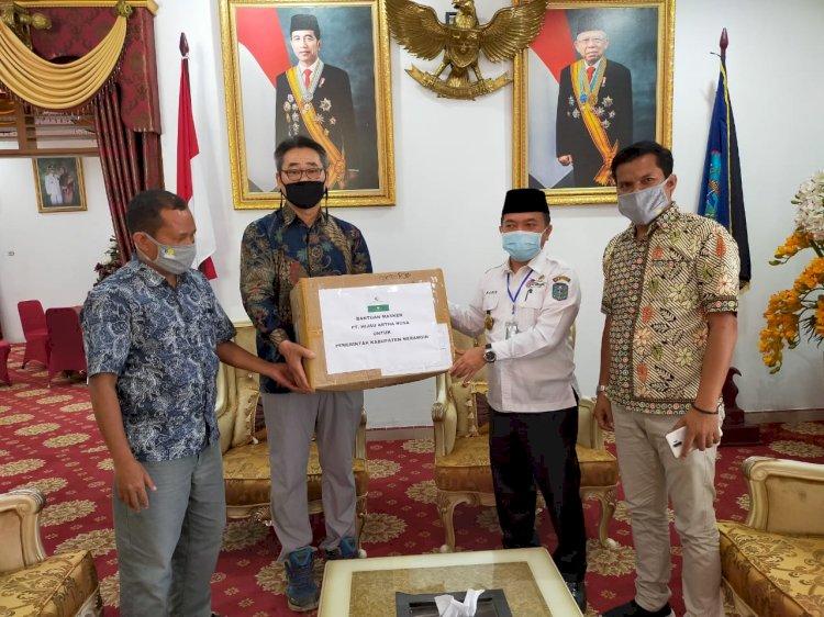 PT HAN Serahkan Ribuan Masker ke Bupati Merangin