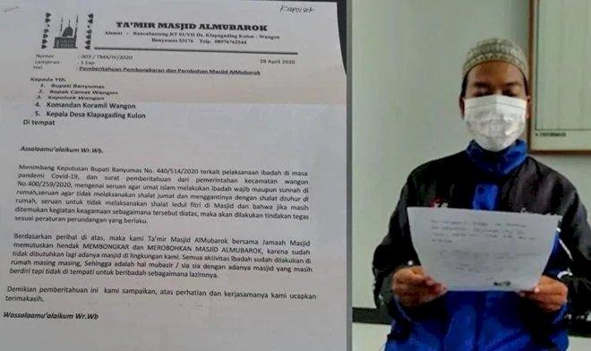 Viral Surat Takmir di Banyumas untuk Merobohkan Masjid, Begini Kata Kadus