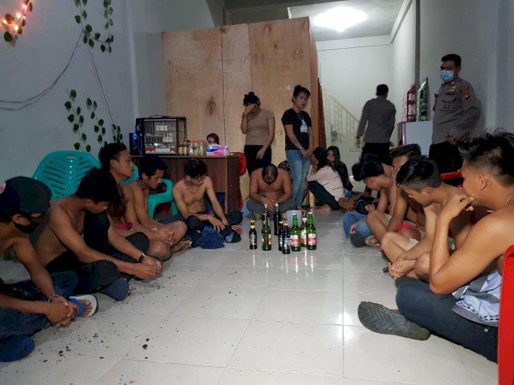 Razia Jam Malam Merangin, Belasan Pemuda dan 5 Wanita Penghibur Diamankan