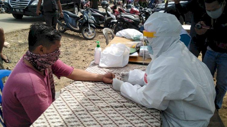 2 Pedagang di Pasar Blok D Tanjab Timur Positif Rapid Test, Bupati: Mereka Akan Langsung Kita Karantina