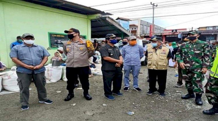 Pasar Semurup jadi Lokasi Uji Coba New Normal di Kerinci, Begini Kondisinya