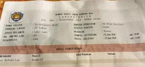 Aneh, Hasil Rapid Tes Pemuda di Nusa Tenggara Ini Kok Jadi Reaktif Hamil?