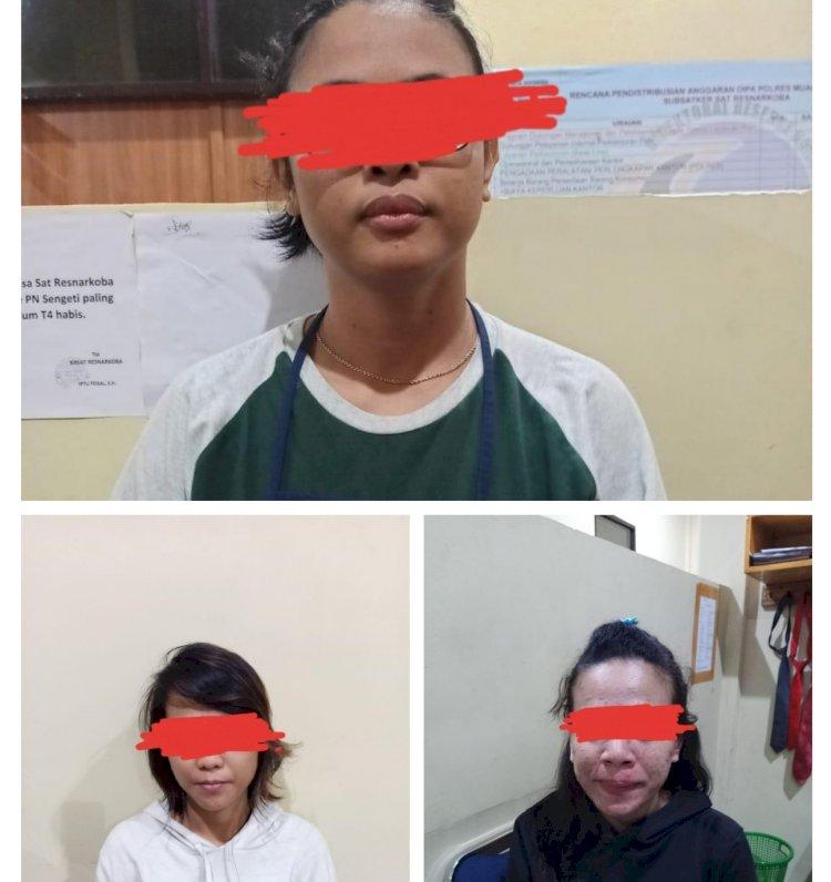 Bonceng 3 Sambil Bawa Sabu, 2 Gadis dan 1 Janda di Muarojambi Ini Ditangkap Polisi