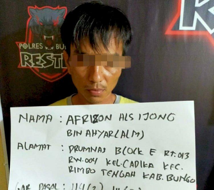 Sering Transaksi Ganja di Jalan Perumnas Cadika Bungo, Ijong Ditangkap Polisi
