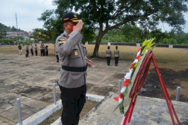 Hari Bhayangkara 74, Kapolres Aji: Anggota Polri Dituntut Lebih Peduli kepada Masyarakat Terdampak COVID-19