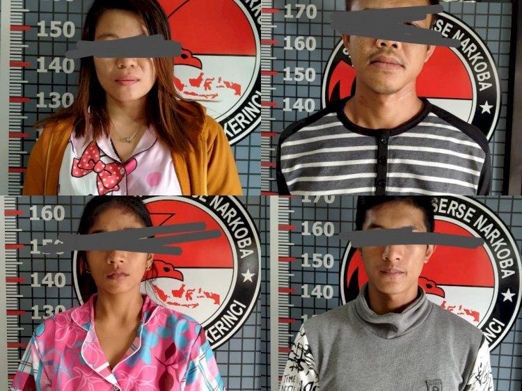 Edarkan Sabu, Dua Pasangan di Sungaipenuh Ini Ditangkap Polisi
