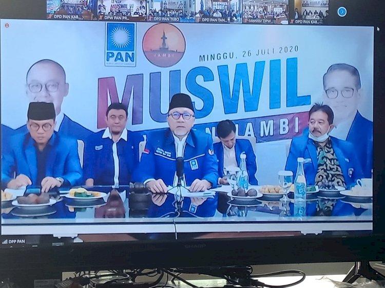 Muswil PAN Jambi Paling Singkat, Zulhasan Tetapkan H Bakri Ketua Terpilih Secara Aklamasi