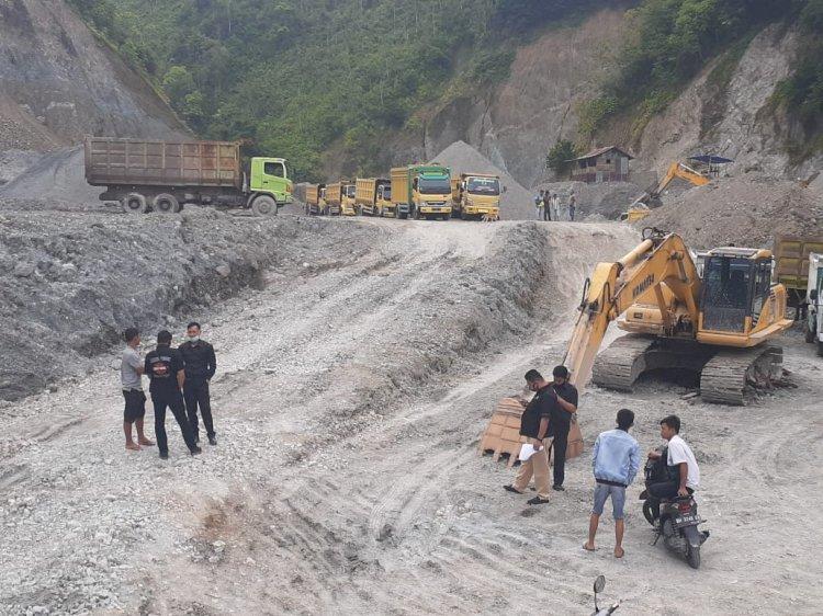Tuntut Jatah Operasi, Puluhan Sopir Truck di Kerinci Ini Datangi Galian C Siulakderas