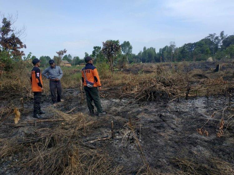 Karhutla Mulai Mengancam Muarojambi, Lahan Milik Warga Sekernan Terbakar