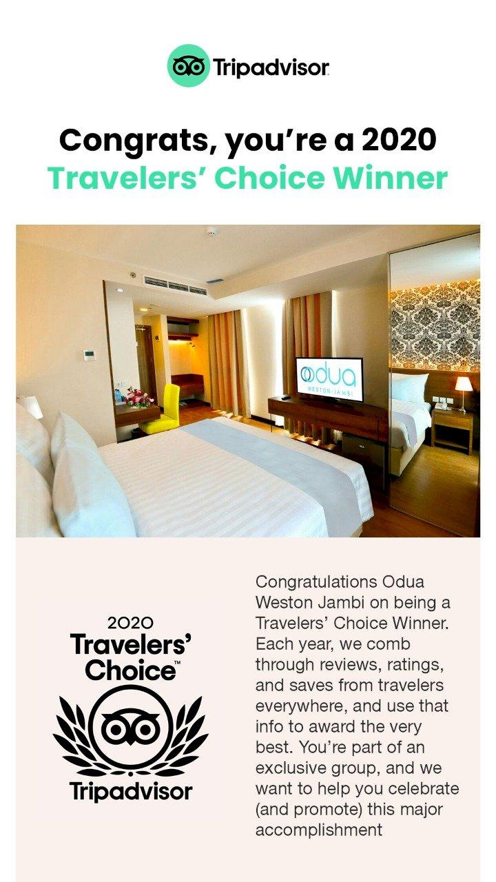 Odua Weston Jambi Raih Penghargaan Traveler Choice Winner 2020