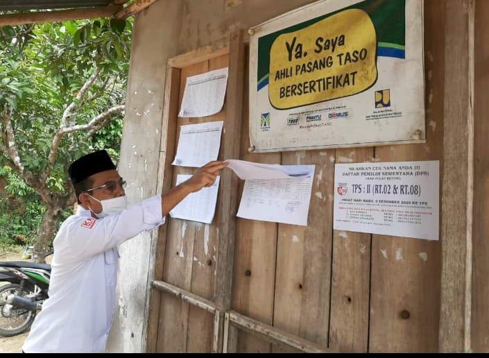 Hari Pertama Pengumuman DPS, Komisioner KPU Provinsi Jambi Turun Lakukan Monitoring