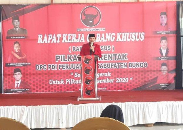 Sampaikan Arahan Megawati, Edi Purwanto: Tak ada Toleransi kepada Kader yang Tidak Mengindahkan Keputusan Partai