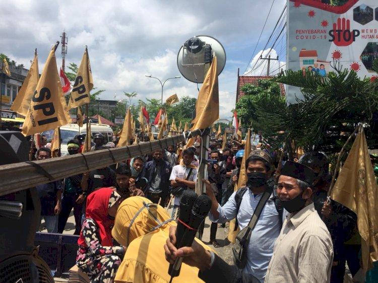 Di Tengah Bahaya Corona, Ratusan Anggota SPI Lakukan Aksi di Kota Jambi