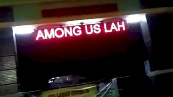 Viral! Running Text SMA di Bekasi Jadi 'Among Us Lah'