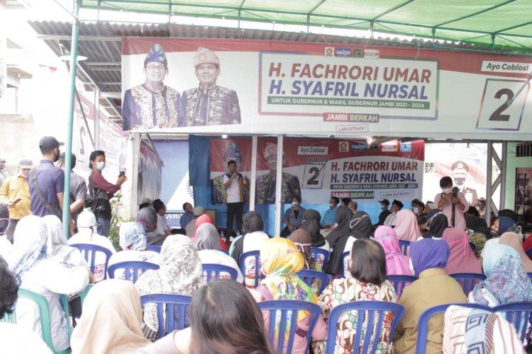 Warga Kelurahan Payo Lebar Kota Jambi Dukung Pasangan Fachrori Umar -Syafril Nursal