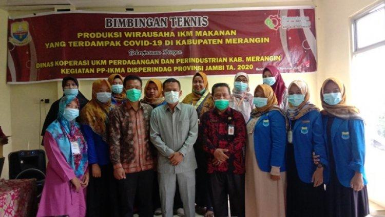 Pulang Kampung, Juwanda Buka Bimtek Produksi Wirausaha IKM yang Terdampak Pandemi di Merangin