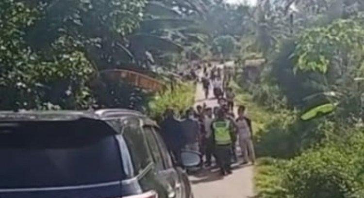 Cabup Mashuri Dihadang Sekelompok Orang Sambil Bawa Kayu di Tanah Tumbuh Bungo
