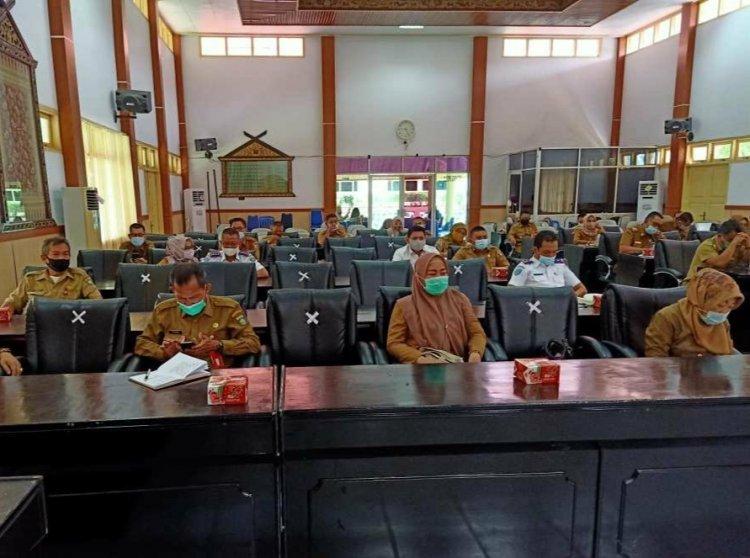 Rakor, Pjs Bupati Bungo Minta Patuhi Protokol Kesehatan Saat Pilkada 9 Desember Nanti