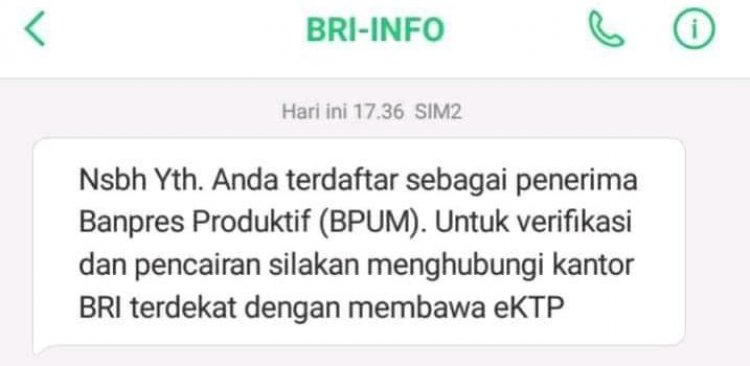 Tanda Lolos BPUM, Dapat SMS Banpres Ini...