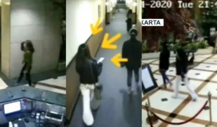 CCTV Detik-detik Artis ST dan SH Masuk Kamar Hotel dan Terkuak Tarif Hingga Rp110 Juta