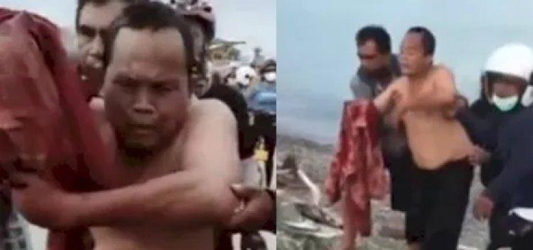 Viral Pria Ini Digigit Buaya Hingga Putus Saat di Pantai Talise: Allahuakbar