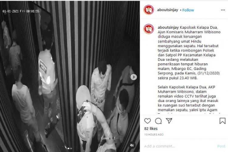 Viral Polisi di Tangerang Masuk Tempat Sembahyang Pakai Sepatu, Pemilik: Jujur Saya Sedih!