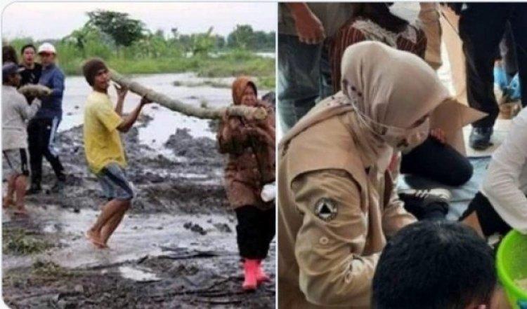 Viral Risma Angkat Kayu di Lokasi Bencana, Gus Umar: Tugas Dia Itu Gimana Bantuan Berjalan Lancar