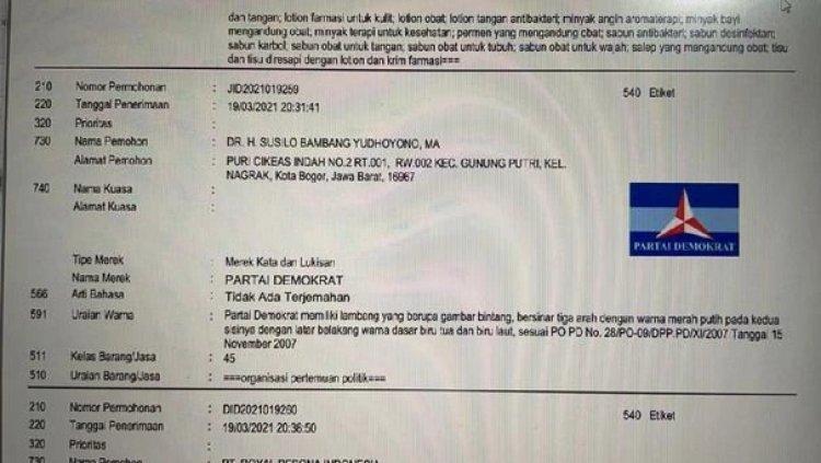 Daftarkan Merek PD Atas Nama Pribadi, Kubu Moeldoko: SBY Itu Mungkin Sakit, dan Suka Memutarbalikkan Sejarah