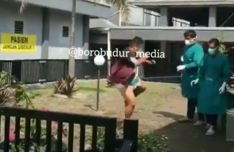 Viral! Pasien Covid-19 Keluarkan Jurus Silat ke Petugas Medis Mau Kabur dari RS