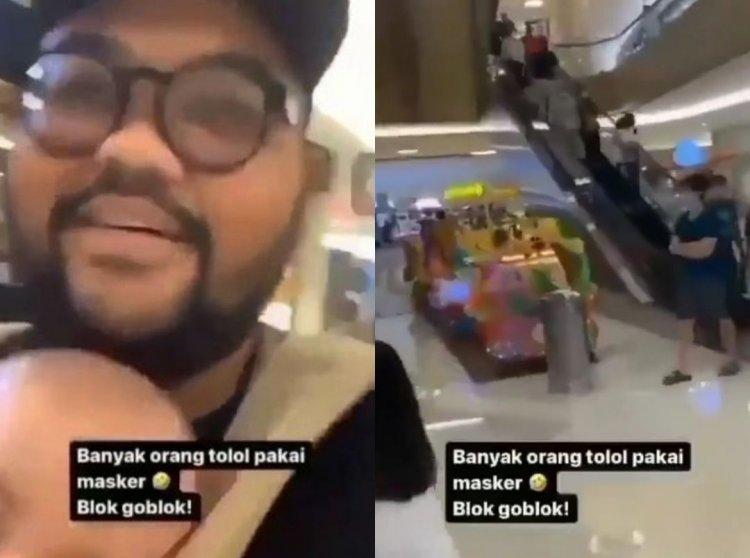 Viral! Pria Memaki-maki Pengunjung Mal yang Pakai Masker di Surabaya
