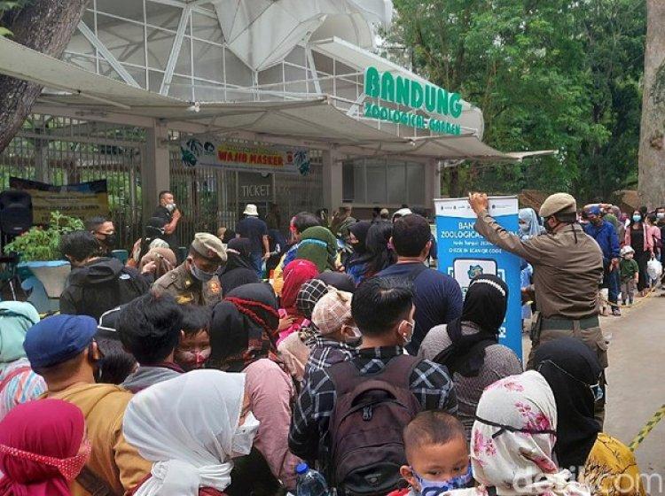 Libur Lebaran Pandemi, Pengunjung Kebun Binatang Bandung Membludak
