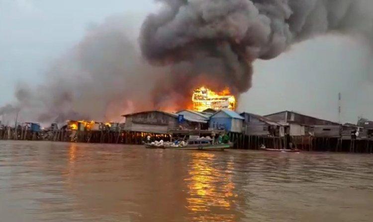 Kebakaran di Menteng Hanguskan 111 Rumah Warga