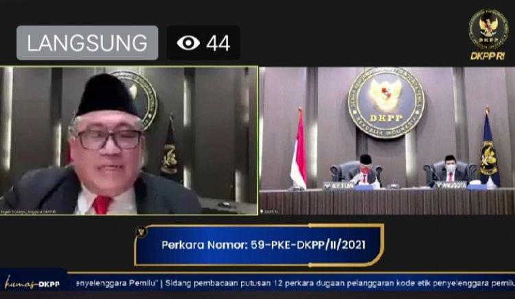 Ini Putusan DKPP Terhadap Bawaslu Provinsi Jambi, Kabupaten Merangin dan Muarojambi