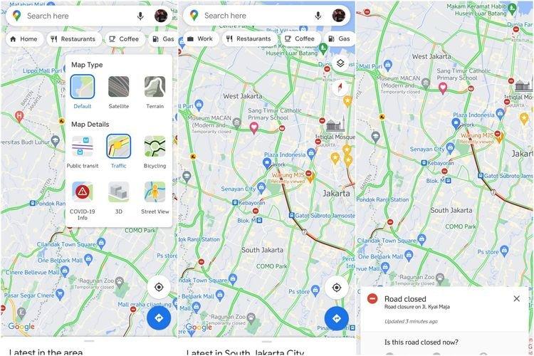 Yuk! Cek Titik Penyekatan Jalan Saat PPKM Darurat Lewat Google Maps, Begini Caranya...