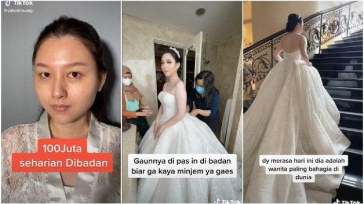 Demi Cantik di Hari Pernikahan, Wanita Ini Rela Bayar Rp 100 Juta, Videonya Viral