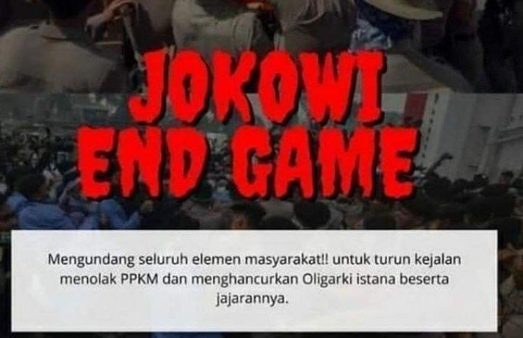 "Seruan Aksi Bertajuk ""Jokowi End Game"" Beredar Luas, Polisi: Lihat Rumah Sakit, Kuburan, Sudah Penuh!"