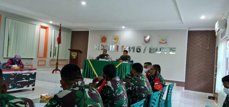Pimpin Rapat Perwira-Persiapan TMMD ke-112 di Tebo-Jambi, Ini yang Disampaikan Dandim
