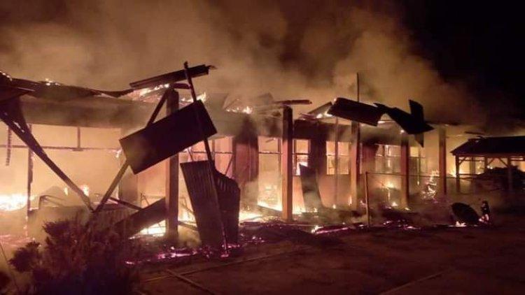 Ponpes Nurul Iman Dharmasraya Terbakar Hebat, Tidak Ada Korban Jiwa