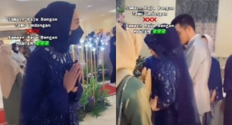 Viral Gaun Pengantin dan Tamu Kok Bisa Sama, Netizen: Wkwkwkwk Asik Bisa Kembaran!