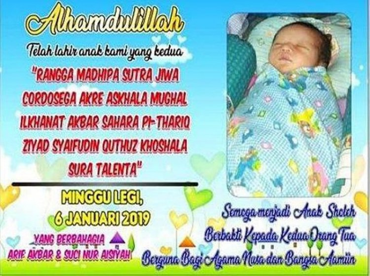 Gegara Nama Anak Terlalu Panjang, Orangtua Asal Tuban Ini Sulit Dapatkan Akta Kelahiran, Bahkan Mengadu ke Jokowi