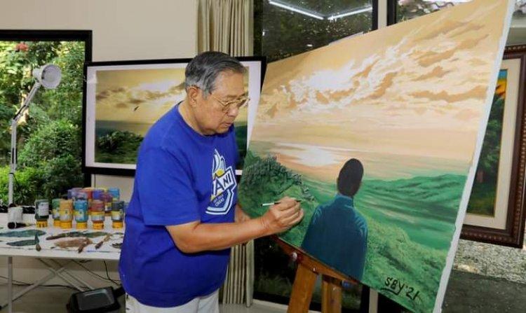 Weekend, SBY Ekspresikan Dirinya Lewat Melukis: Saya Beri Nama I Understand More the Meaning of Life!
