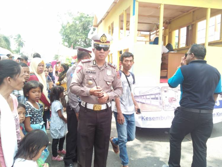 300 Personel Kepolisian Disebar Amankan Pawai Pembangunan Jambi