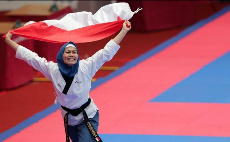 Indonesia Meraih Emas Pertama Asian Games 2018 dari Cabang Taekwondo