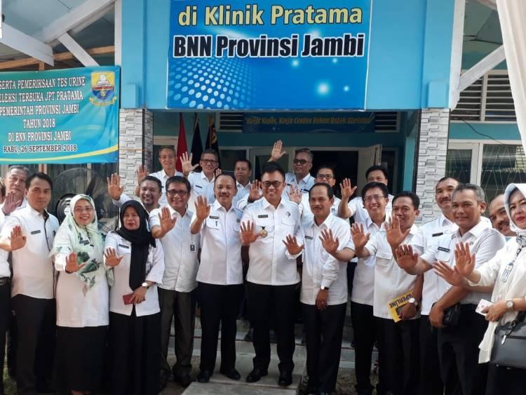 24 Peserta Lelang Jabatan Pemprov Jambi Tes Urine di BNN Provinsi, Ini Hasilnya