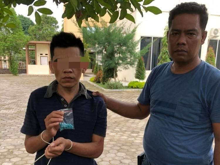Ditresnarkoba Polda Jambi Ciduk Bandar Narkoba Miliki 345 Butir Ekstasi